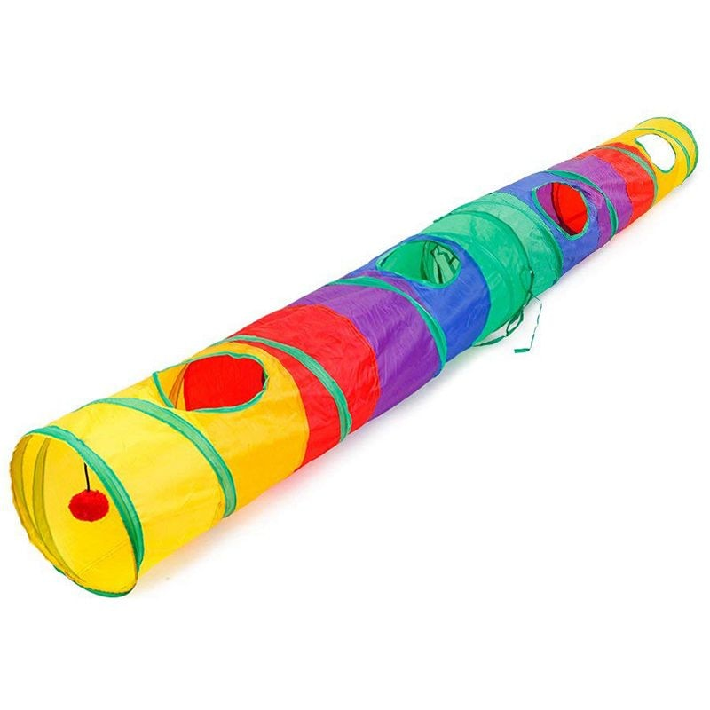 Practical Cat Tunnel Pet Tube Collapsible Play Toy Indoor Outdoor Kitty Puppy Toys for Puzzle Exercising Hiding Training and R