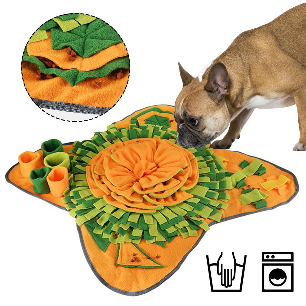 Pet Dog Sniffing Mat Dog Puzzle Toy Pet Snack Feeding Mat Boring Interactive Game Training Blanket Snuffle Feeding Training Mat