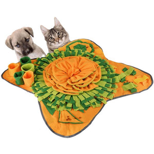 Open image in slideshow, Pet Dog Sniffing Mat Dog Puzzle Toy Pet Snack Feeding Mat Boring Interactive Game Training Blanket Snuffle Feeding Training Mat