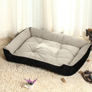 Open image in slideshow, Plus Size Large Dog Bed Mat Kennel Soft Pet Dog Puppy Warm Bed House Plush Cozy Nest Dog House Pad Warm Pet House