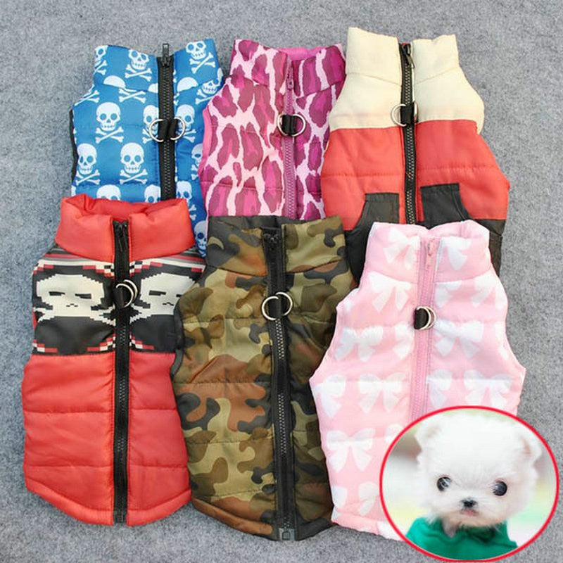 Warm Dog Clothes For Small Dog Windproof Winter Pet Dog Coat Jacket Padded Clothes Puppy Outfit Vest Yorkie Chihuahua Clothes