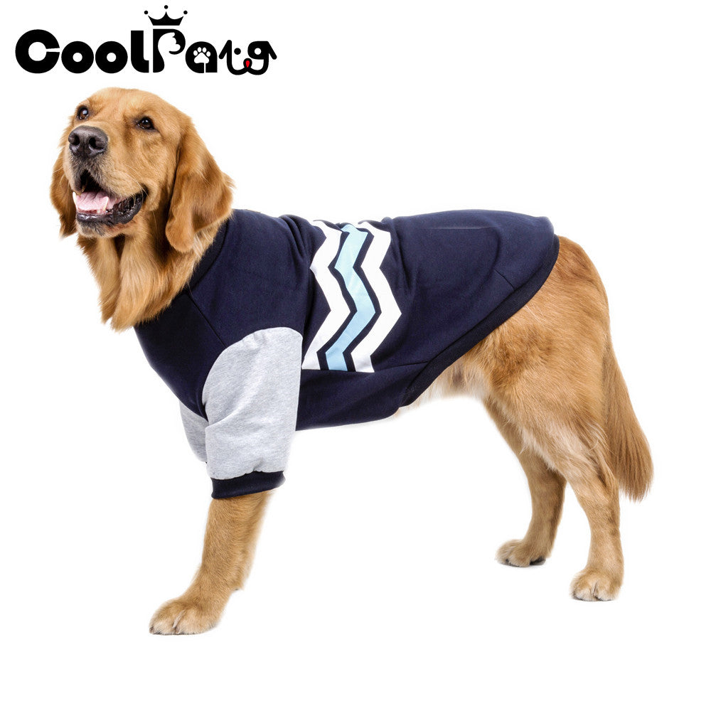 2020New Warm Dog Clothes Pet Soft Wave Patten Design Hoodie Coat Jacket Puppy Clothes for Dog Small to Large Supplies