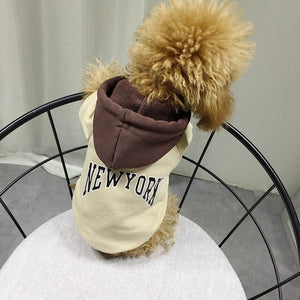 Open image in slideshow, Dog Clothes For Small Dogs Cotton Hoodies For French Bulldog Jacket for Dogs Chihuahua Outfit Pet Clothing Parent-child Costume