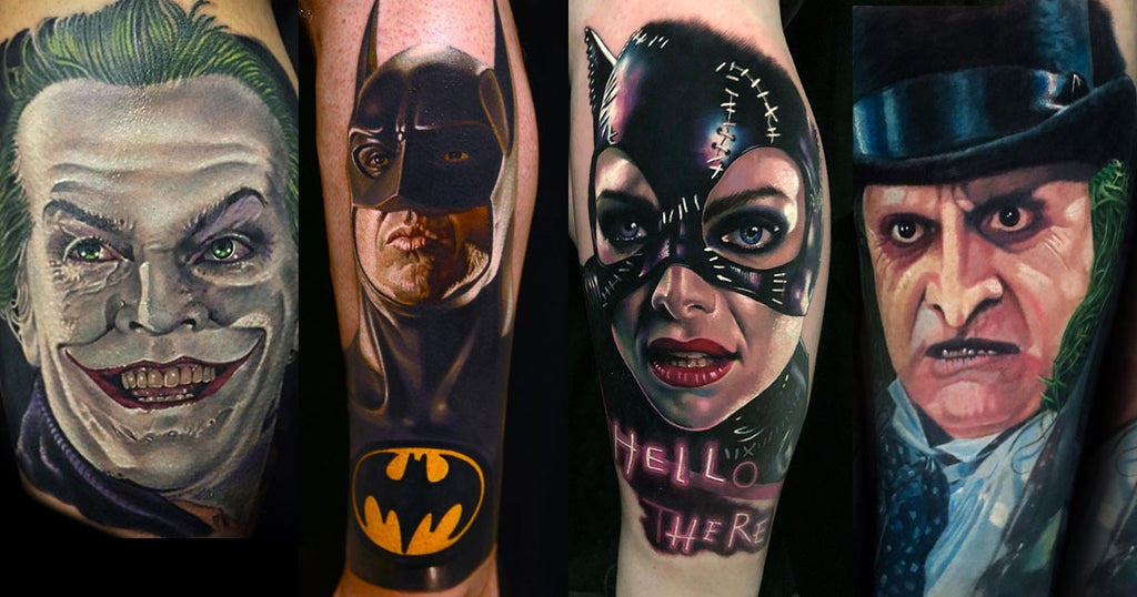Batman Tattoos inspired by Tim Burtons 1989 Batman