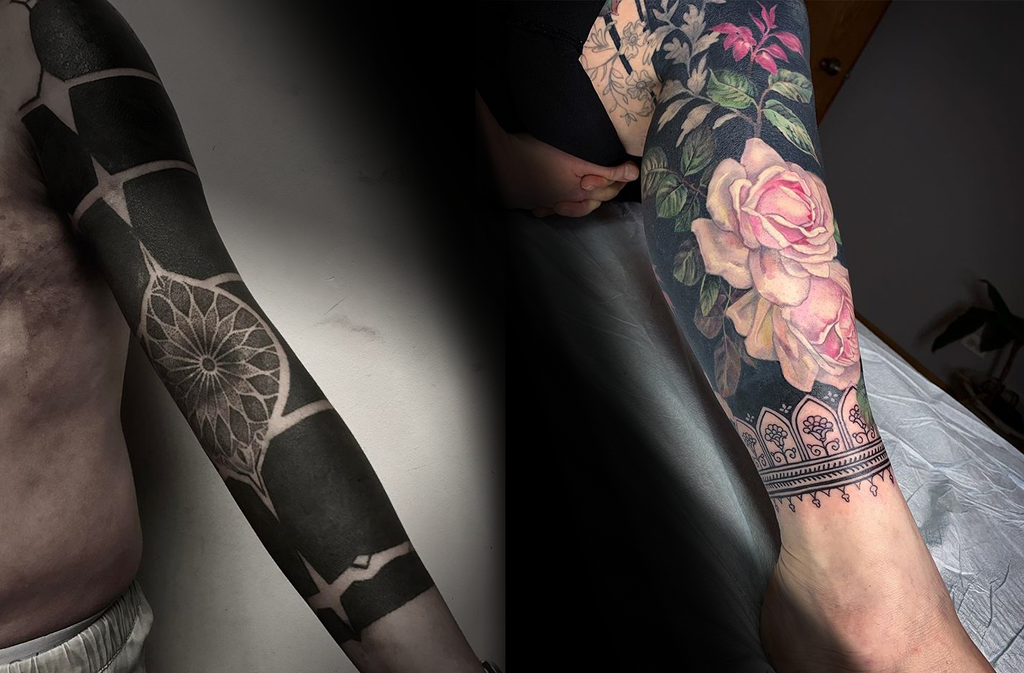 Fabulous Blackout Tattoos by Two Pioneers
