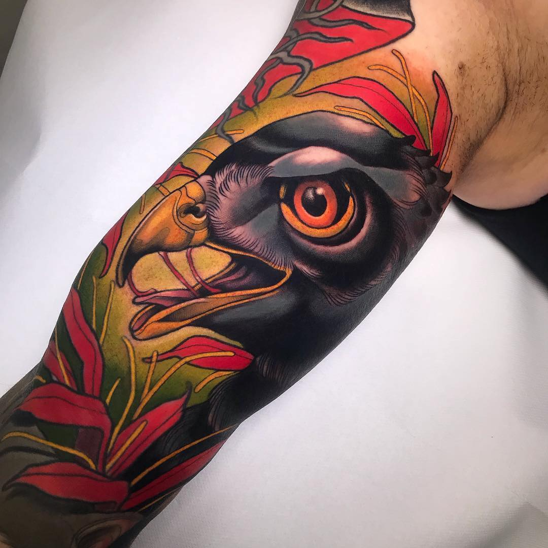 Colour Tattoo of a Bird by Yonmar