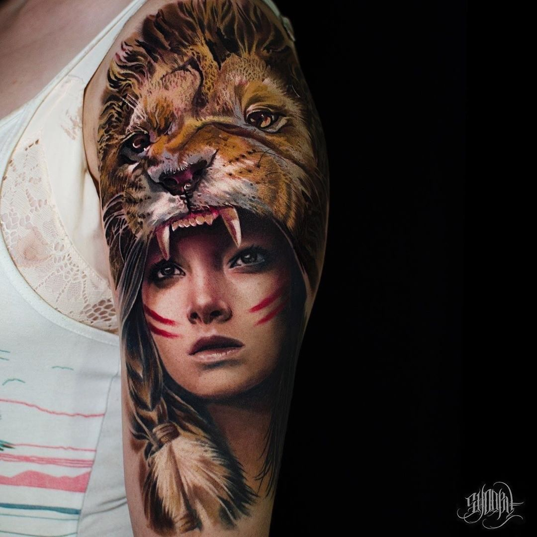 Lion Tattoo by Shooby Tattoo