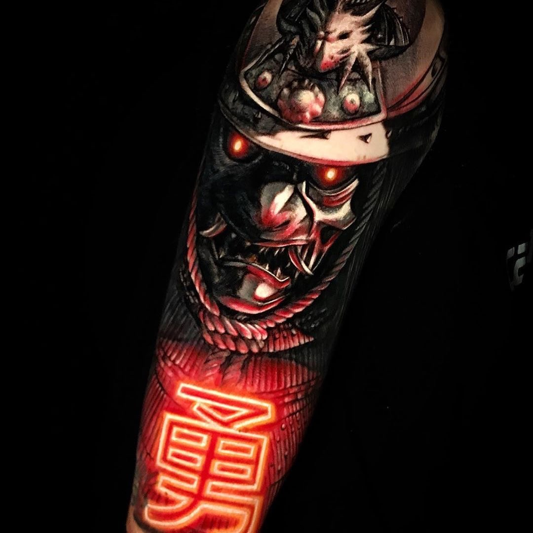 Colour Realism Arm Tattoo of a Samurai by Black Adry Sanchez