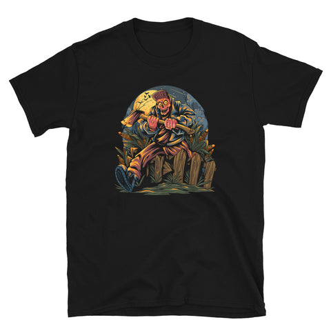 Zombie With Axe Short-Sleeve Unisex T-Shirt