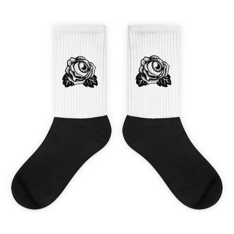 Eyeball Rose Socks