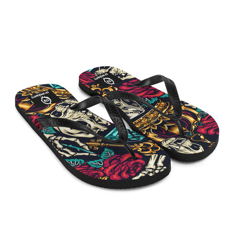 Crown & Skeleton Flip-Flops