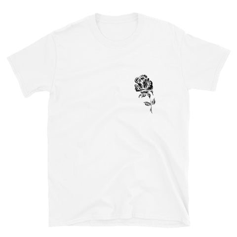 Rose - White Short-Sleeve Unisex T-Shirt