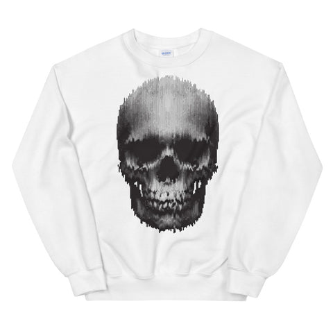 Fazed Skull White Unisex Sweatshirt