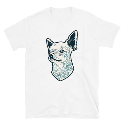 Tattooed Chihuahua White Short-Sleeve Unisex T-Shirt