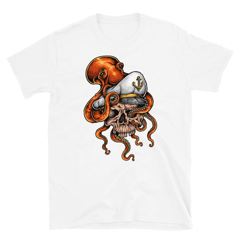 Skull Sailor White Short-Sleeve Unisex T-Shirt