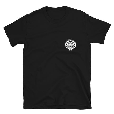 Tiger Black Short-Sleeve Unisex T-Shirt