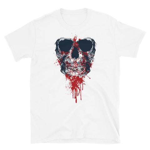 Bloody Skull White Short-Sleeve Unisex T-Shirt