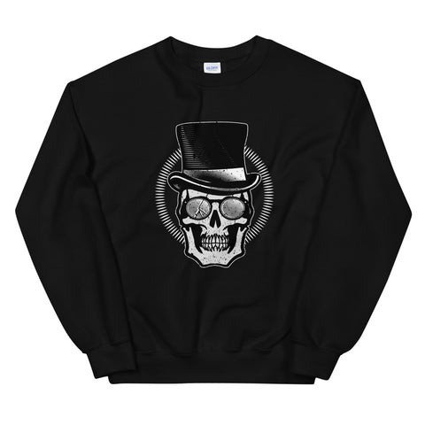 Total Gentleman Black Unisex Sweatshirt - Large Print