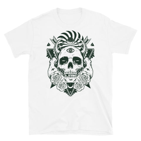 Devil Skull White Short-Sleeve Unisex T-Shirt