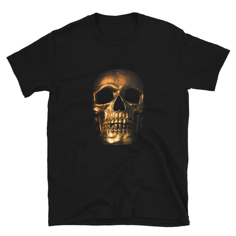 Gold Skull Black Short-Sleeve Unisex T-Shirt