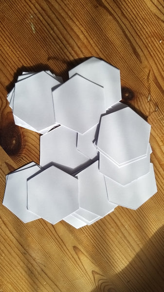 "1"" hexagons"