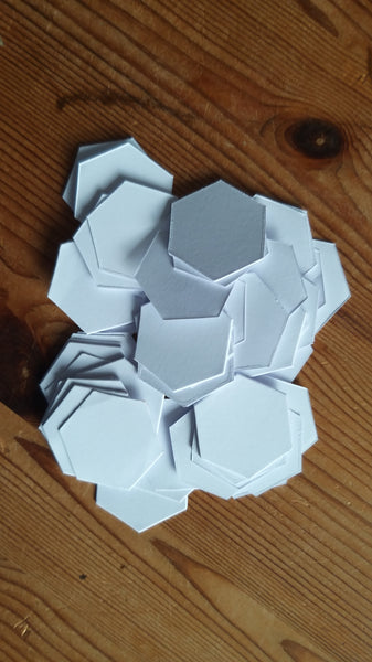 "3/4"" hexagons"