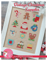 Vintage Christmas Sampler Cross Stitch Chart