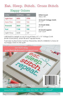 Eat. Sleep. Stitch Cross Stitch Chart