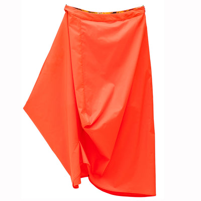 Tangerine Geometric Skirt
