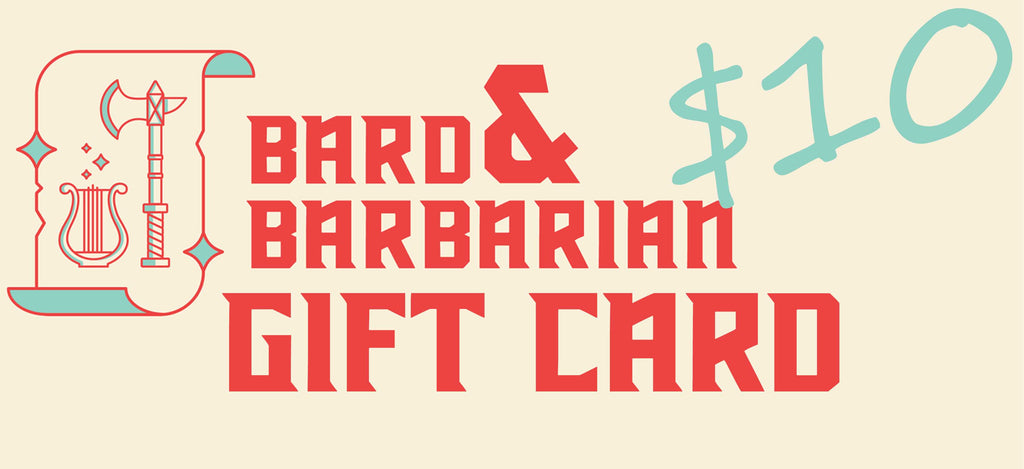 Bard and Barbarian Gift Card