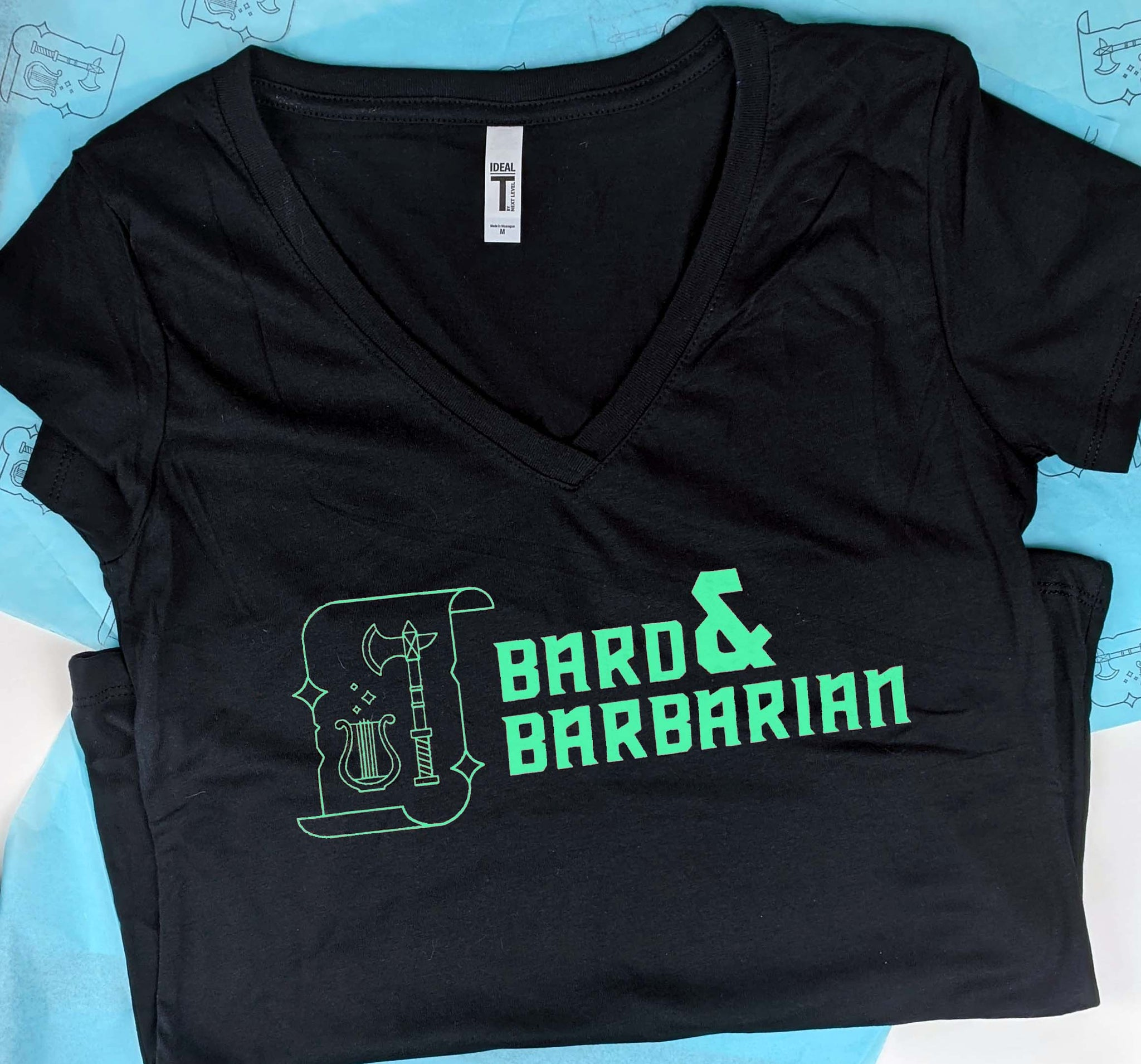 Bard and Barbarian Femme Cut V-Neck Tee