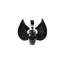 Load image into Gallery viewer, skull wings pendant