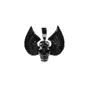 skull wings pendant
