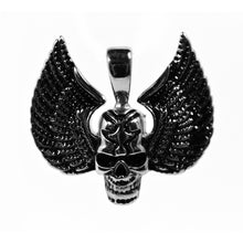 Load image into Gallery viewer, skull with wings pendant
