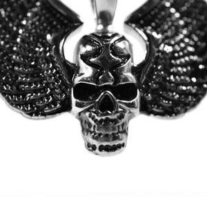 skull and wings pendant