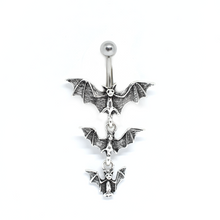 Load image into Gallery viewer, Vampire Bat Belly Ring