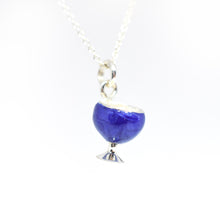 Load image into Gallery viewer, Blue Wine Glass Necklace