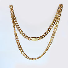 Load image into Gallery viewer, gold tone cuban link chain