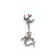 Load image into Gallery viewer, Blue Chameleon Belly Ring