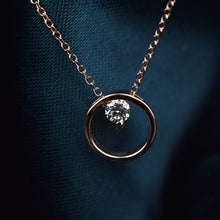 Load image into Gallery viewer, diamond circle necklace