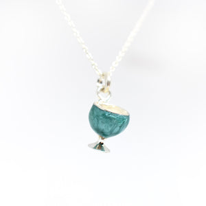 Green Wine Glass Necklace