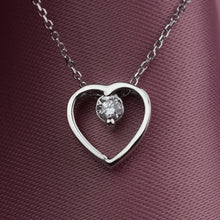 Load image into Gallery viewer, cvd heart necklace