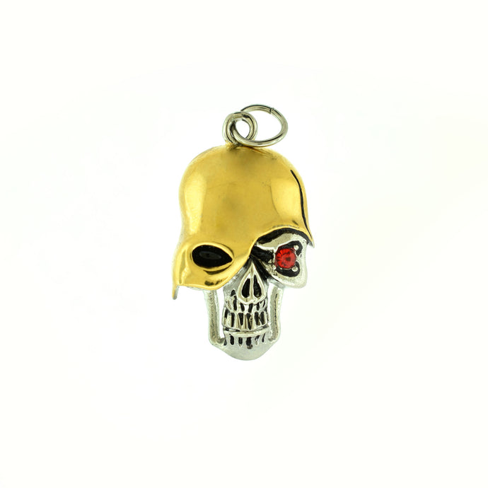 skull with helmet pendant