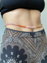 Load image into Gallery viewer, Rose Quartz Beaded Belly Chain