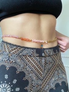 Rose Quartz Beaded Belly Chain