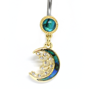 moon belly ring