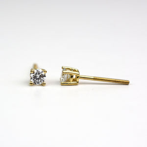 diamond earrings screw back