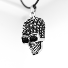 Load image into Gallery viewer, Studded Skull Necklace