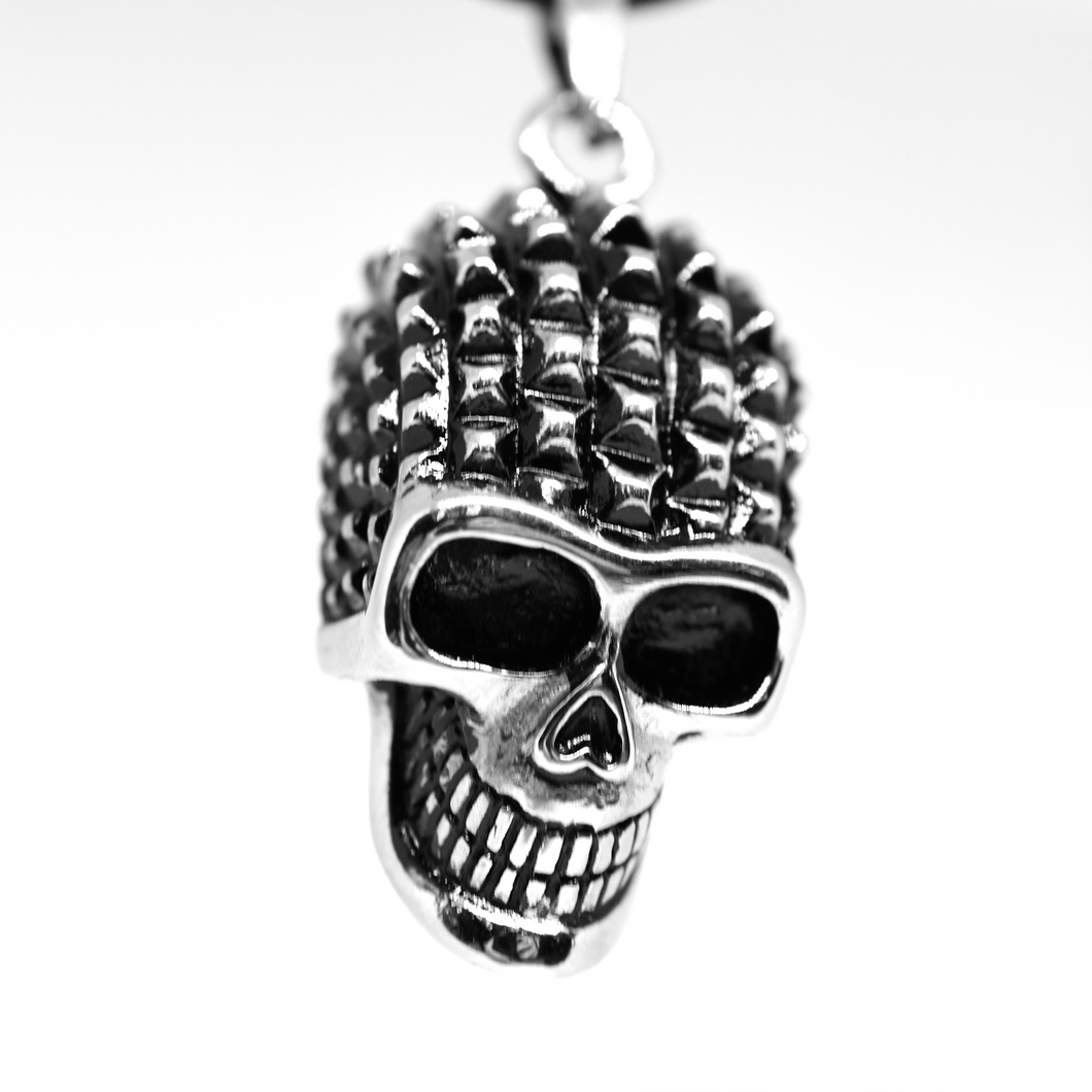 Studded Skull Necklace