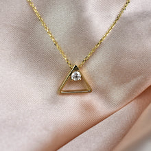 Load image into Gallery viewer, diamond triangle pendant
